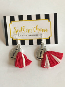 Football Tassel Earrings