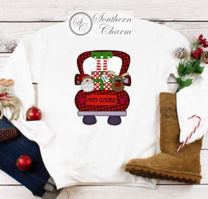 Merry Christmas Truck Sweatshirt