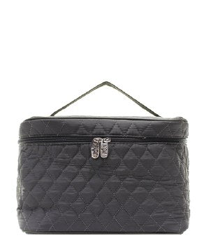 Quilted Microfiber Cosmetic Tote