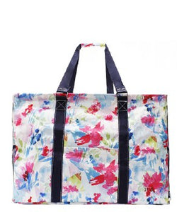 Floral Watercolor Utility Tote