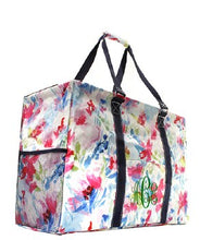 Load image into Gallery viewer, Floral Watercolor Utility Tote