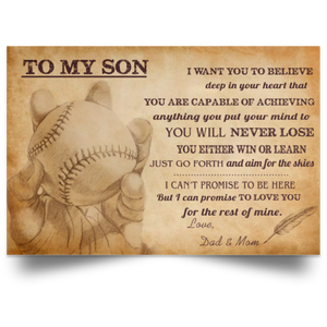 Softball Dad To My Daughter I Want U To Believe Deep In Heart Landscape Poster