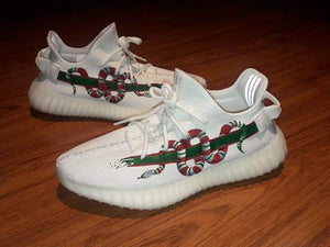 Snack White limited edition Yeezy shoes