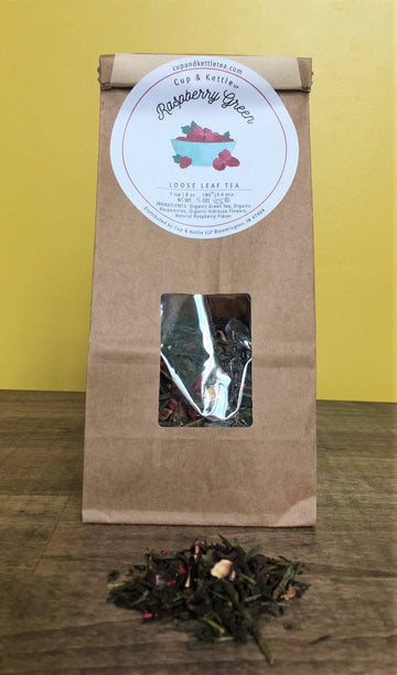 Raspberry Green Tea 3 oz Bag