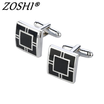 French Shirt Men Jewelry Unique Wedding Groom Men Cuff Links Business Silver Cufflinks For Mens Fashion Jewerly
