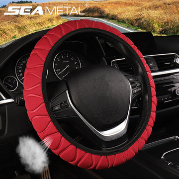 Braid On The Wheel Car Steering Wheel Cover (Red)