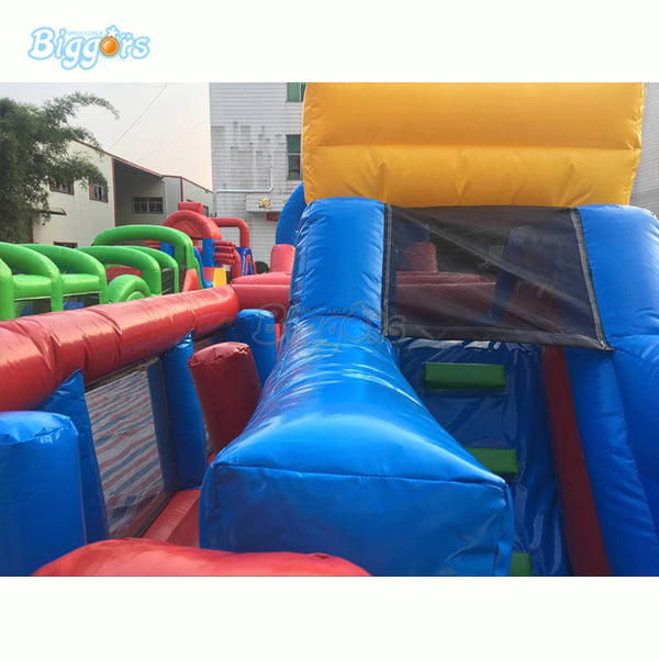 Giant Inflatable Amusement Game Interactive Game Bounce House Obstacle Course