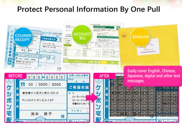 Portable Roller Data Privacy Protection Stamp
