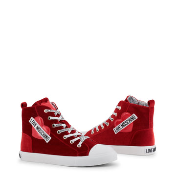 Love Moschino - Red Velvet Hightop Sneaker