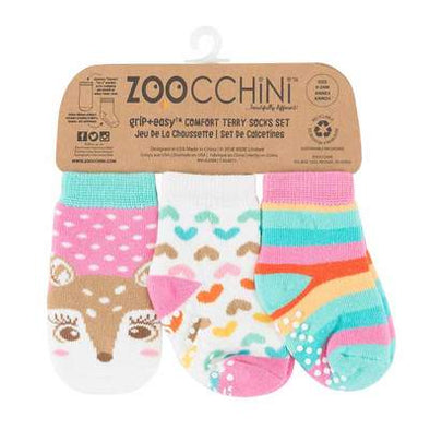 FIONA THE FAWN-3 pc Comfort Terry Socks Set