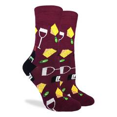 Women's Wine & Cheese Sock