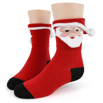 3D Santa Socks - Youth