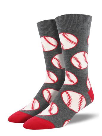 Men's Out to the Ball Game Socks - Gray