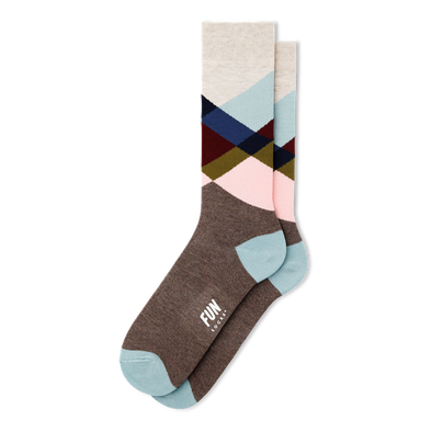 Broken Dress Crew Socks - Men's