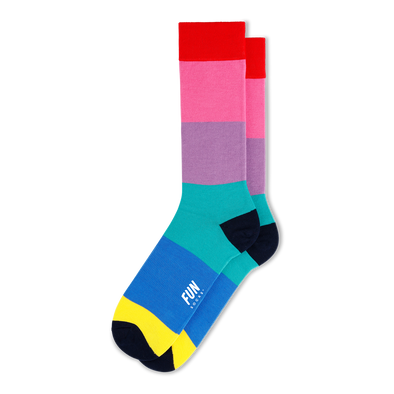 Color Block Crew Socks - Men's