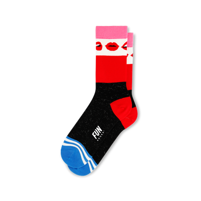 Lips Crew Socks - Women's