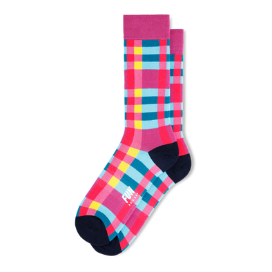 Checked Crew Socks - Men's