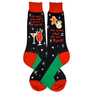 Santa Knows Socks - Men's