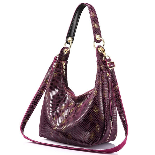 serpentine prints ladies bag