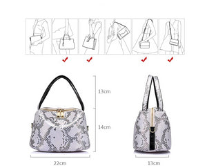 Serpentine print totebag