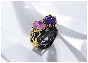 Vintage   Black Gold  Rings