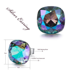 Austrian Swarovski Stud Earrings-Hykoshop