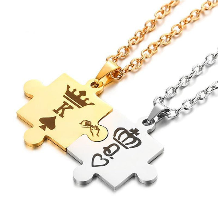 King & Queen Couple Necklaces-Hykoshop
