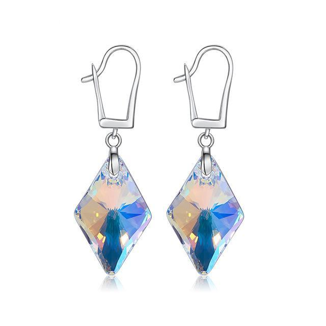 S925 Sterling Silver Swarovski earrings-Hykoshop