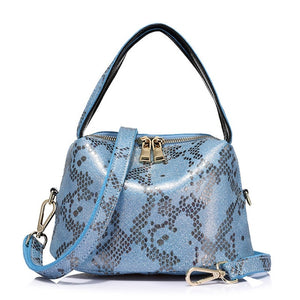 blue  Serpentine print totebag