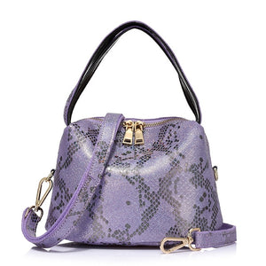 puple Serpentine print totebag