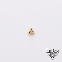 Leroi gold 3 Bead Cluster