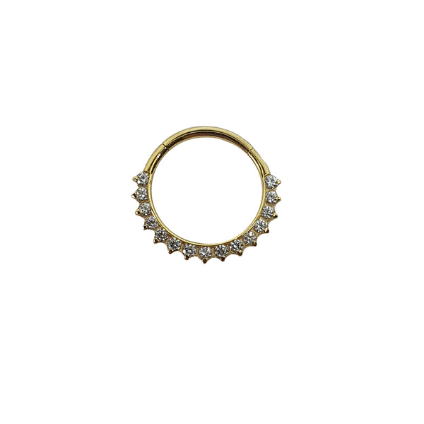 Aruis Tiara Clicker Ring Yellow Gold