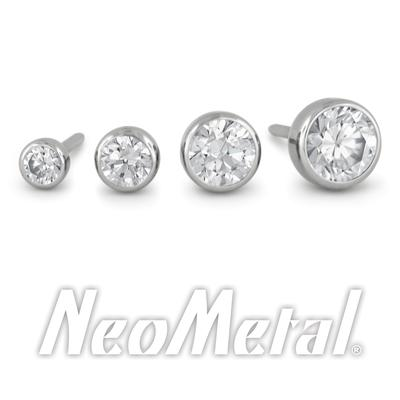 NeoMetal Bezel set CZ end threadless