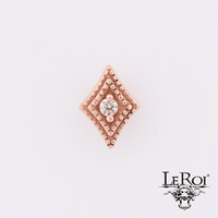 Leroi Diamond Double Millgrain