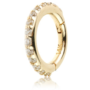 TISH LYON  Gem Eternity Hinge Ring Cardiff