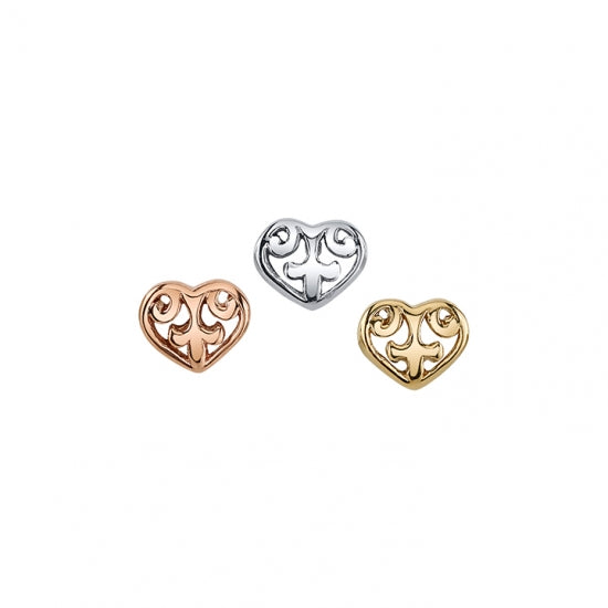 BVLA Solid Gold Ornate Heart