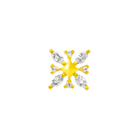 junipurr 14k white gold Gold Snowflake Elsa decorative end JJ0131 Yellow gold
