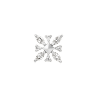 junipurr 14k white gold Gold Snowflake Elsa decorative end JJ0131-WG