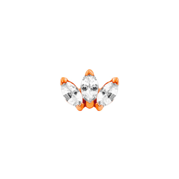JUNIPURR JEWELRY TRIPLE MARQUISE FAN SWAROVSKI CZ