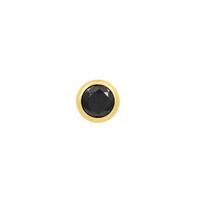 junipurr 14k yellow gold Round Bezel Black CZ decorative end JJ0250-YG