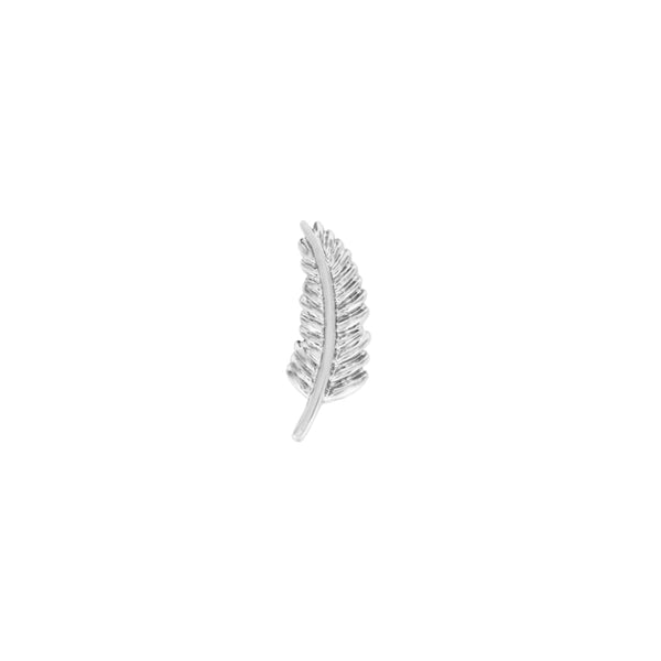 JUNIPURR JEWELLERY GOLD FEATHER QUILL