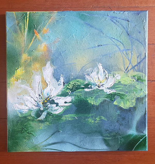 "💮 Tiffany's Winter Lilies 12"" x 12"" Original Print ❄️by Nymphya on Photo Paper (matte)"