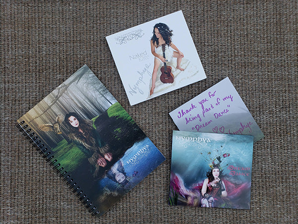 "3 PACK ~ DREAM DANCE, NAKED KATE and ""Nymphya in the Woods"" Ruled Spiral Notebook Bundle - The Nymphya Shop"