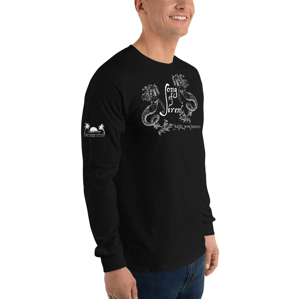 "LIMITED EDITION ""Song of Sirens"" Light on Dark Unisex Long Sleeve T Shirt (+ Free Song)"