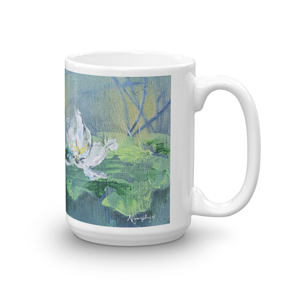 💮 Tiffany's Winter Lilies Original Print Coffee Mug ❄️by Nymphya