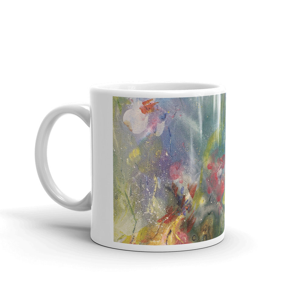 🌺 Kaleidoscope of Spring Blooms Original Print Coffee Mug 🌸 by Nymphya