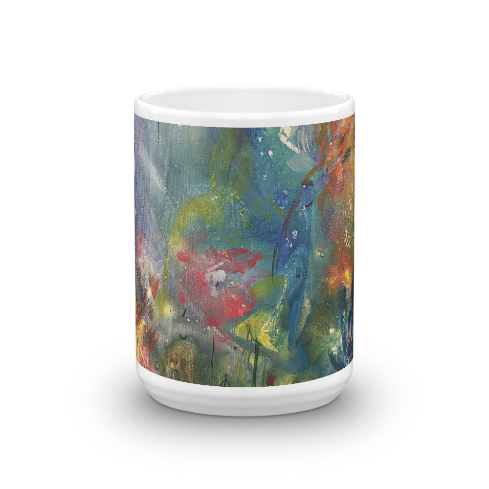 🌺 Kaleidoscope of Spring Blooms Original Print Coffee Mug 🌸 by Nymphya - The Nymphya Shop