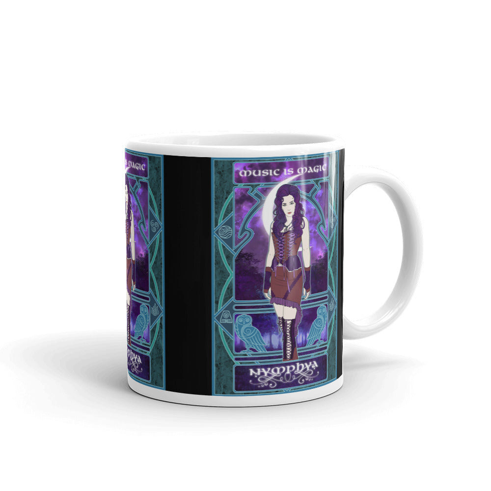 "☕ Nymphya  Nouveau Black ""Music is Magic"" Mug"