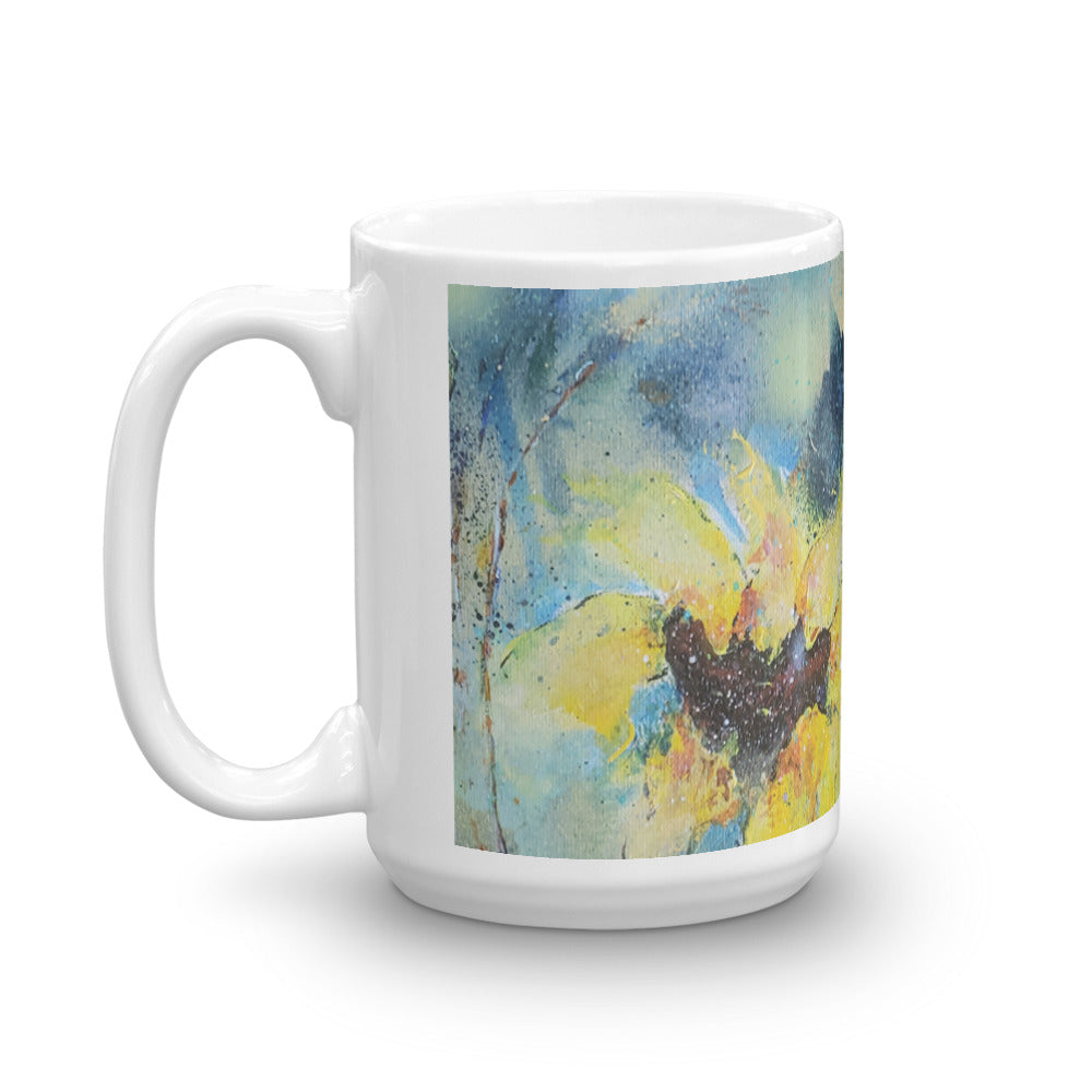 🌻 Summer Light of Sunflowers Original Print Coffee Mug 🌻 by Nymphya