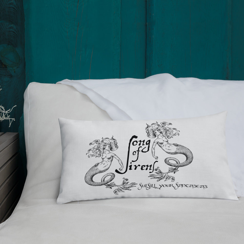 """Song of Sirens"" Premium Throw Pillow (+ Free Song) - The Nymphya Shop"